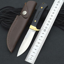 Survival Knife 7Cr17Mov Steel Blade Copper+Wood Handle BROWNING Pocket Fixed Hunting Tactical Knives Camping Outdoor Tools xb05