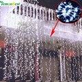 3 М Х 3 М 300LED новый год светодиодные Фары Рождественские Открытый сказочных огней Рождество garden party гирлянда освещения Свадебные Украшения Занавес Лампы светодиодные гирлянды
