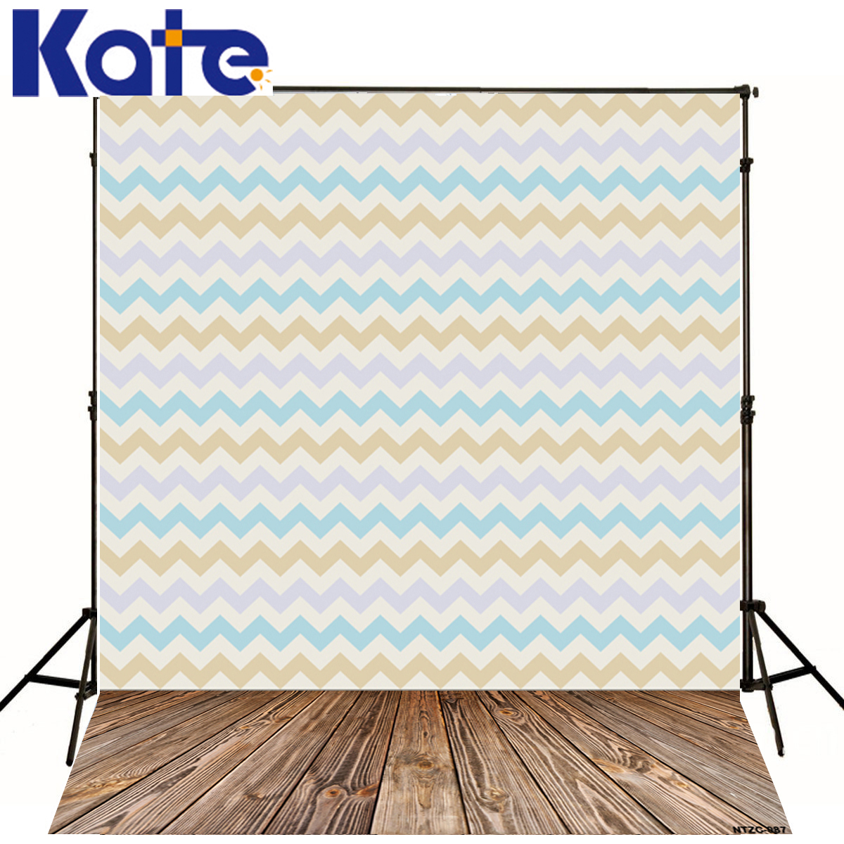 Kate Photography Backdrops Colored Wavy Stripes Blue Fond Studio Photo Wood Floor Fotografia Background For Photo Studio J01679 kate 7x5ft photography backdrops floors bookshelf books retro back to school photo background photocall for kids fond studio
