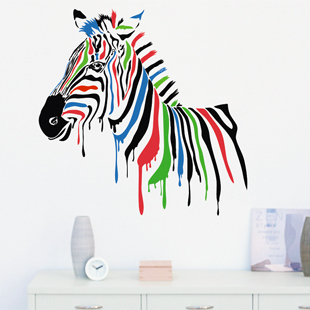Free Shipping Wall stickers Home decor SIze:660mm*660mm PVC Vinyl paster Removable Art Mural Zebra C-59