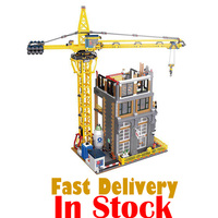 LEPIN Creator 15031 4425PCS The Construction with Crane Building Blocks Bricks enlighten toys for children gifts brinquedos