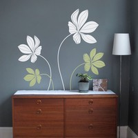Large Cyclamen Flower Wall Decals Baby Nursery Room Decor Study Room Wall Stickers Home Decor Kids Room Mural Wall Tattoo A406