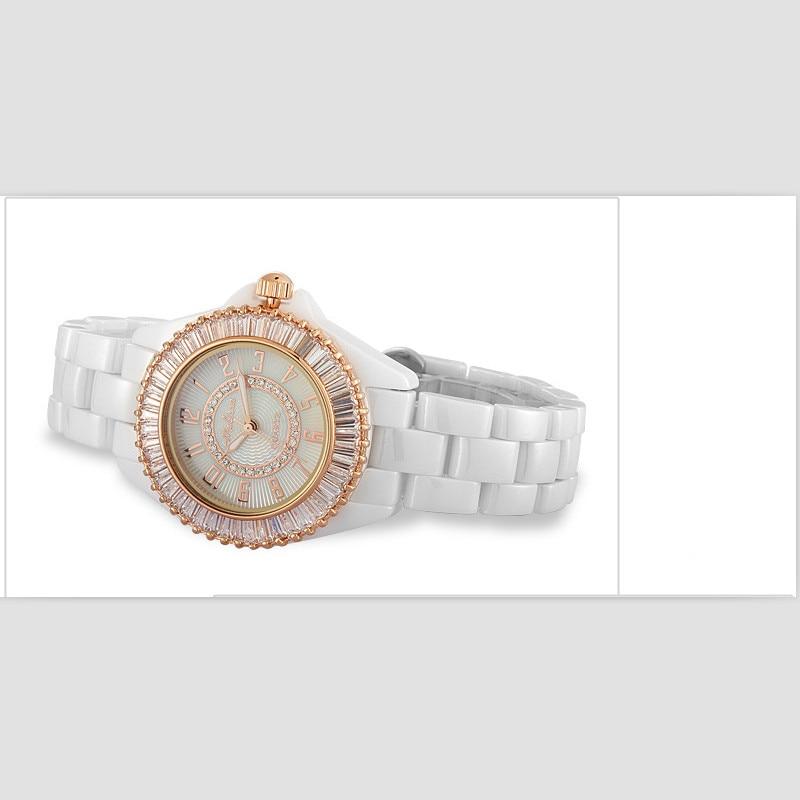 Melissa ювелирные часы для Для женщин Роскошные полный Керамика браслет часы сверкающих кристаллов платье наручные часы кварцевые Montre Femme