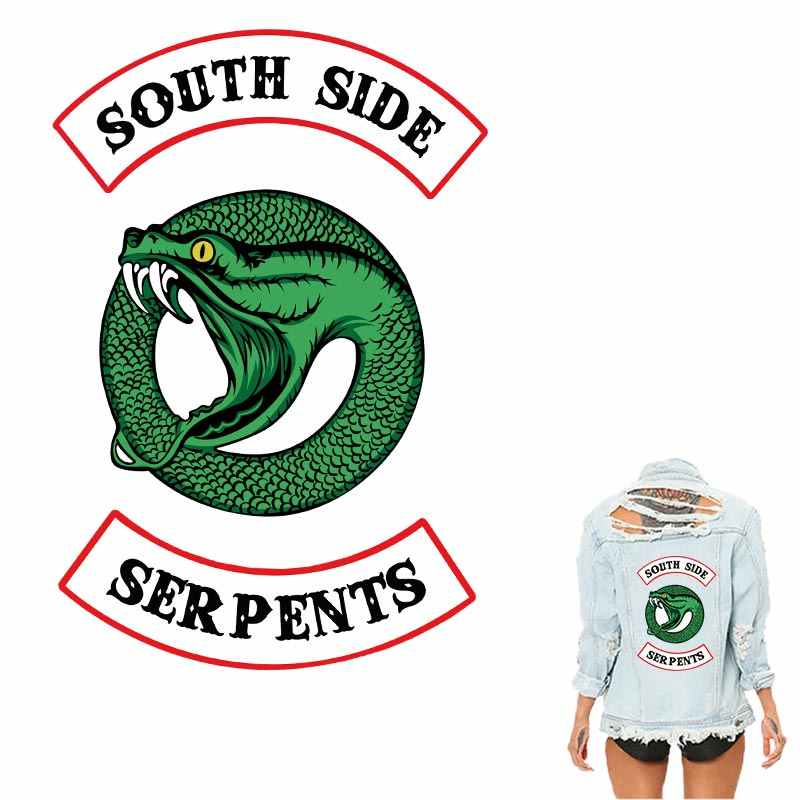 Riverdale South Side Serpents Patches For Clothing Sticker New Design Diy Washable Iron On Transfer Accessory Applique patch