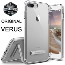 Original VERUS For iPhone 7 / 7 Plus Case Premium Shockproof Ultra Thin TPU Crystal Clear Full Protection Kickstand Cover Cases
