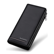 Wallets Men Luxury Brand Genuine Leather  Men Wallets Long Men Purse Wallet Male Clutch Business Wallet Coin Purse Zipper Wallet