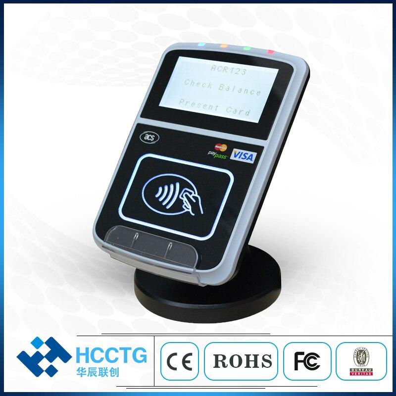 ACR123U Interface USB 13.56mhz RFID lecteur NFC lecteur sans contact Intelligent EMV Paypass pour un paiement pratique