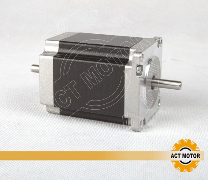 ACT Motor 1PC Nema23 Stepper Motor 23HS8630B Dual Shaft 6-Lead 270oz-in 76mm 3.0A CE ISO ROHS US CA UK DE FR IT JP Free high quality 4pcs wantmotor nema34 stepper motor 85bygh450c 012 single shaft 1600oz 3 5a ce rohs iso us uk ca jp de fr it free