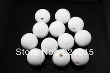 Free shipping! 150pcs/10mm White Chunky Acrylic Round Brightly Gumball Solid Beads For Fashion Necklace &  Bracelets DIY