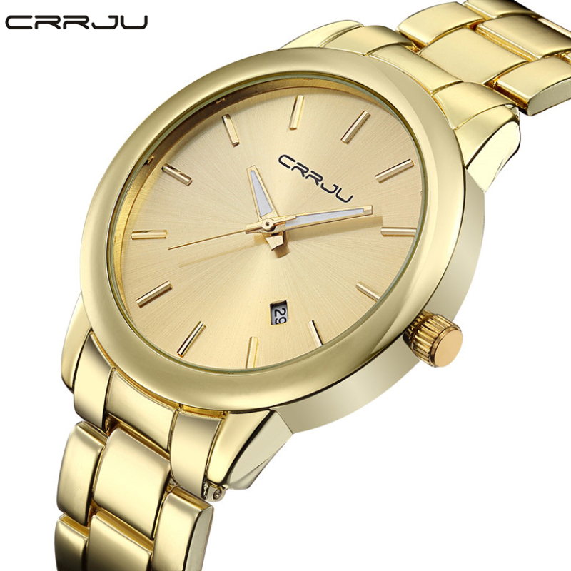 2016 New High Quality Women Dress Watch CRRJU Luxury Brand Stainless Steel Watches Fashion Wrist Gift Watch Men Wristwatches  2016 new high quality women dress watch crrju luxury brand stainless steel watches fashion wrist gift watch men wristwatches