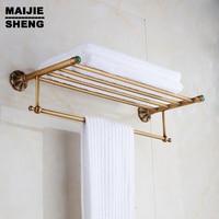 Bath Towel Shelves Towel Bar bath shelf Luxury Towel shelf antique brass Bathroom towel rack holder High Quality bronze brown