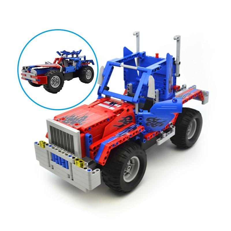 531pcs Movie Classical Action Figures Cars Model MOC Building Blocks Bricks 2 IN 1 Transform Optimuse