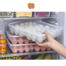 Wyczyść 34 siatka jednowarstwowe pudełko na jaja koszyk Organizer jajko plastikowe pojemnik na jedzenie schowek strona główna kuchnia przezroczyste etui pudełko na jaja