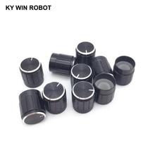 10PCS Potentiometer Plastic Knob 15*17MM Black