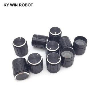 цена на 10PCS Potentiometer Plastic Knob 15*17MM Black