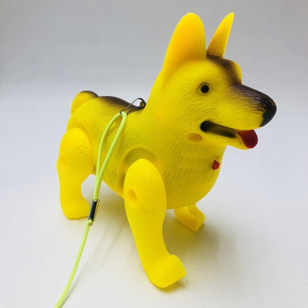 Мода немецкая овчарка пластиковый светодиодный Электрический Собака для детей Прямая