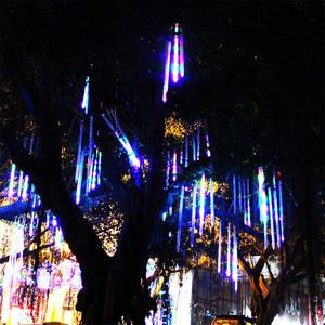 Image 4 - lumiere led Meteor Shower Rain AC100 240V LED christmas decorations for tree Lights Wedding Garden outdoor