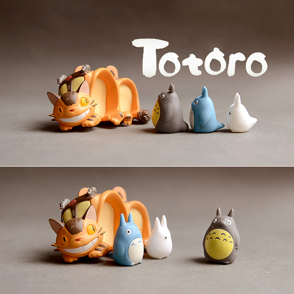 Japanese Original genuine bulks anime kawaii Totoro figure House model microlandscape decoration kids toy collectible(China)