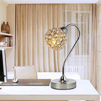 Modern Crystal Decorative Table Lamp E14 Dimmable Personality Bedside Lamp Hardware Crystal 40W Simple Fashion Decorative