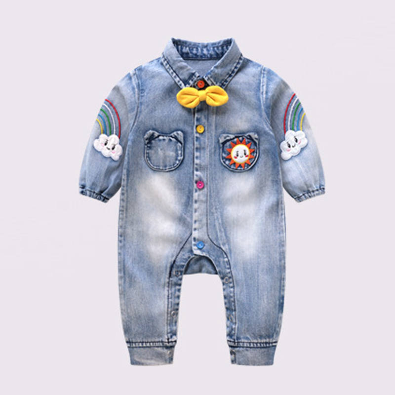 Boy Denim Jumpsuit Body Baby Boy Clothes 1st Birthday Rainbow Bodysuit Infantil Menino Bebek Giyim Daddy's Infant Clothing
