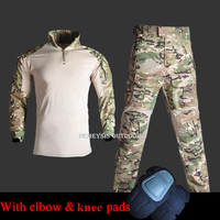 Army Military Airsoft Uniforms Shirts Pants Tactical Suits with Elbow Knee Pads Outdoor Shooting Hunting Uniform Clothing Sets