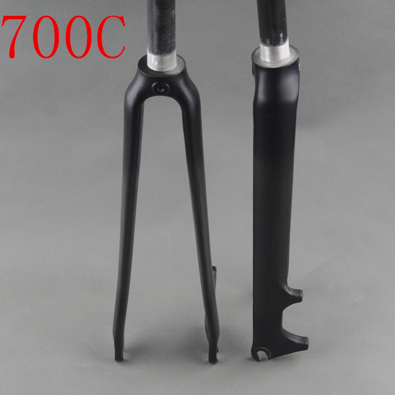 Novo estilo de fibra de carbono garfo de bicicleta de estrada em forma de V disco de freio freio 3 k matte acabamento brilhante bicicleta garfo bicicleta garfo 28.6mm 700c