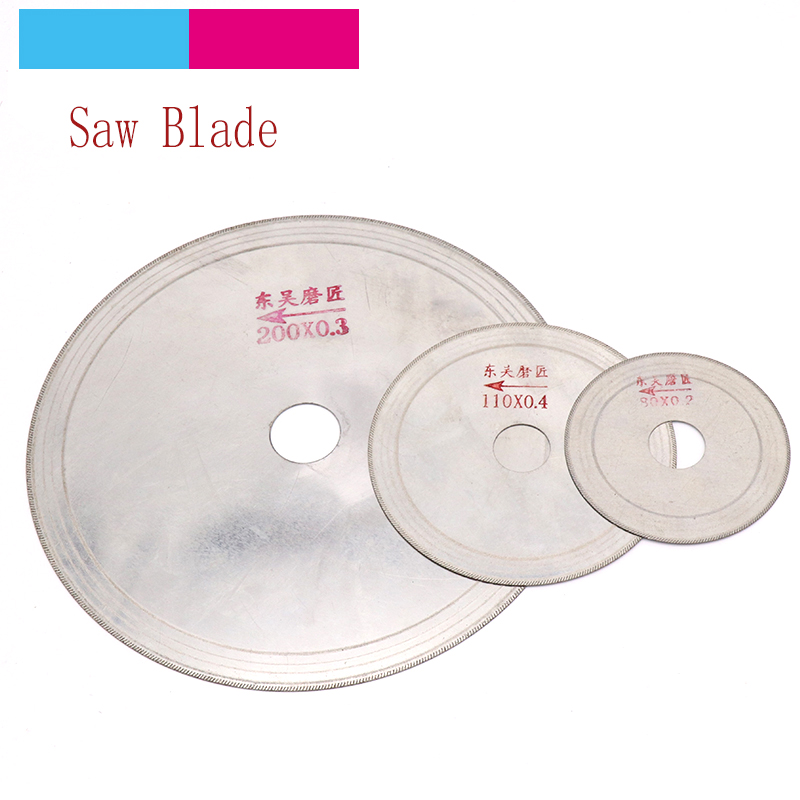 1pcs Ultra-thin Diamond Circular Saw Blade 3/4/5/6/8 Inch Cutting Arbor Disc Cut Jade Discs For Agate Glass Gems Stone Slits