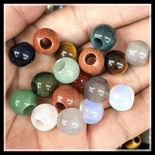 10 個自然宝石石ボールヨーロッパビーズサイズ 12 ミリメートルビッグホール 5 ミリメートル直径女性のブレスレット作るカーネリアンアベンチ