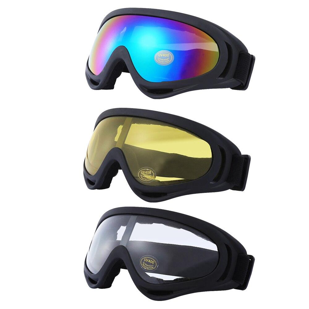 Jiepolly Motocross Sunglasses Pack of 3 Motorbike Goggles Flexible Ultralight Anti-UV Cycling Glasses Skiing Windproof Eyewear