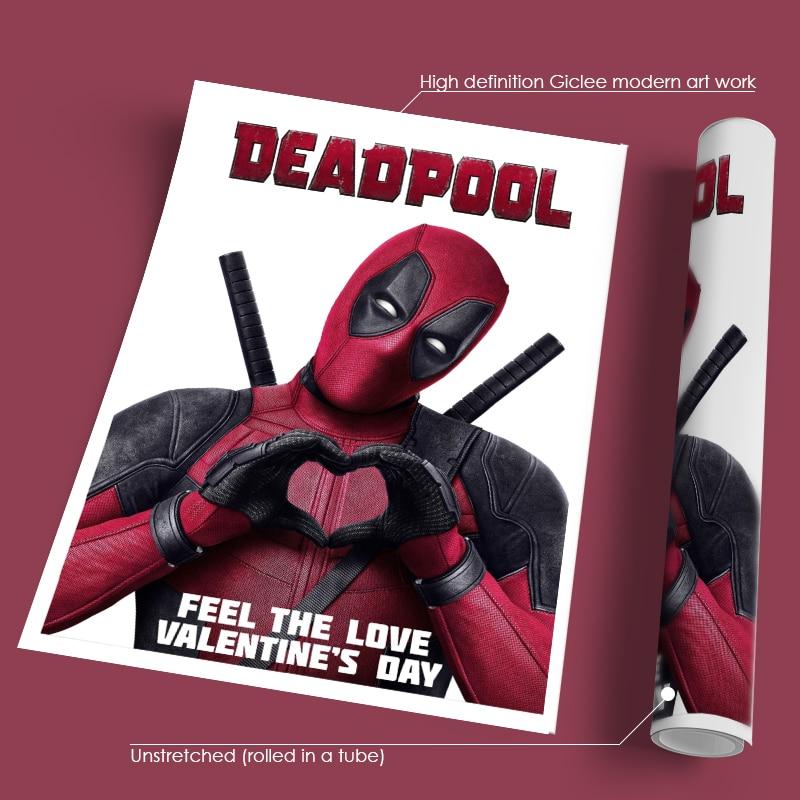 Frameless Movie Deadpool Poster Wall Art Picture Modern Home