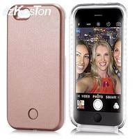 New LED Light Ảnh Tự Sướng Phone Case Cho iPhone 6 6 s Ánh Sáng Đèn Flash Điện Thoại phát sáng Back Cover Case Cho iPhone 6 s Light Up Glowing v