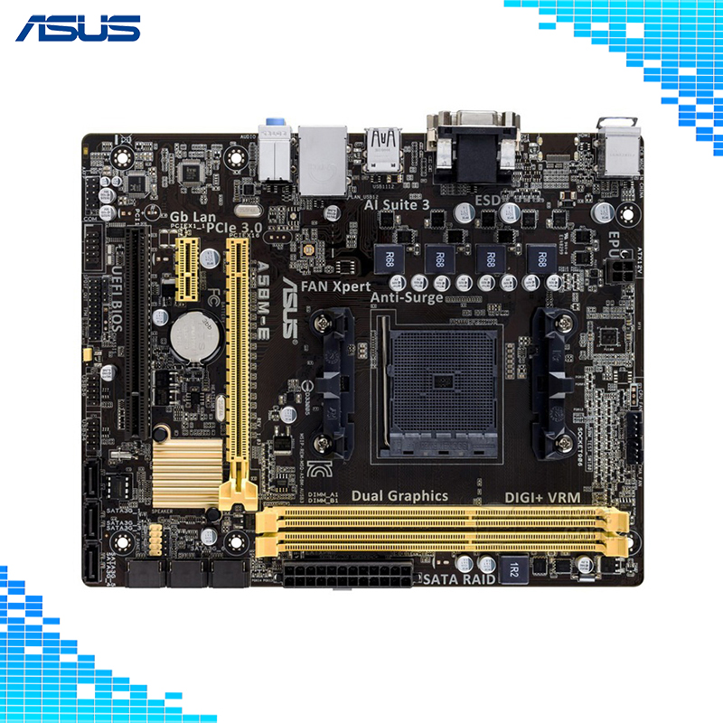 Asus A58M-E Desktop Motherboard AMD A58 Chipset Socket FM2/FM2+ Micro ATX lowest price fairing kit for suzuki gsxr 600 750 k4 2004 2005 blue black fairings set gsxr600 gsxr750 04 05 eg12