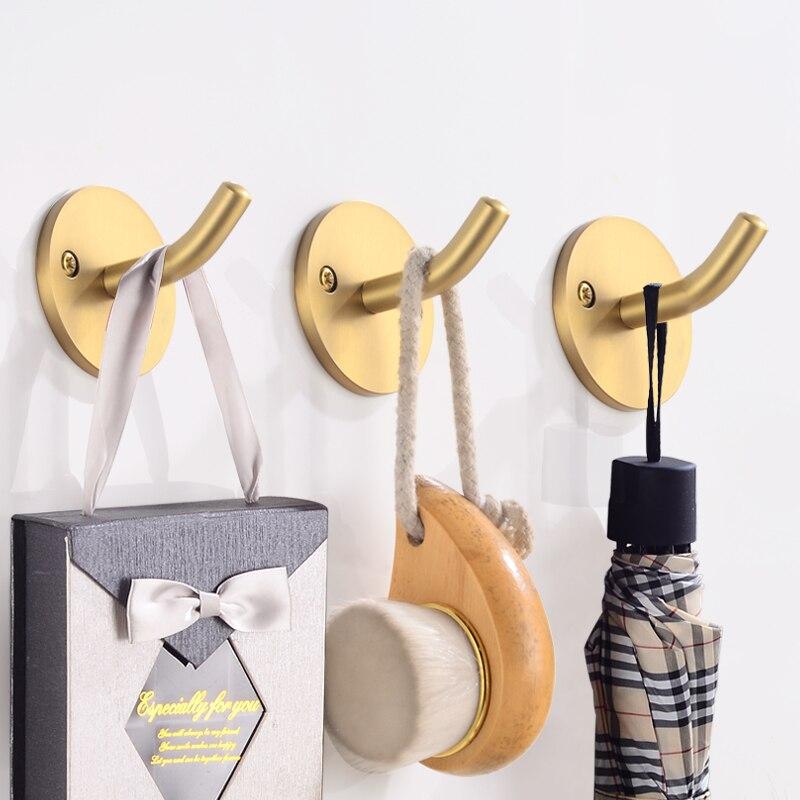 Bathroom Towel Holder Gold Brass Towel Rack Hanging Holder Wall Mounted Towel Bar Robe Hooks Toilet Paper Holder Bathroom Shelf in Bath Hardware Sets from Home Improvement