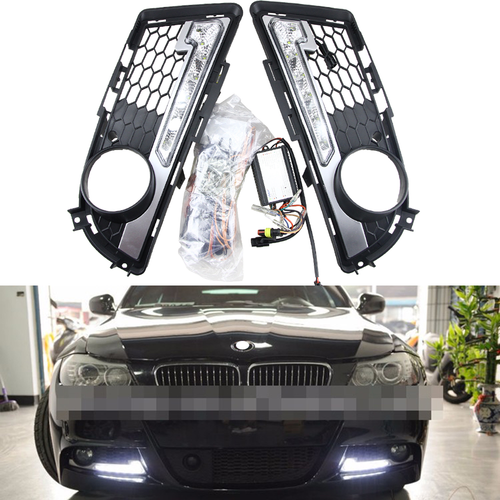 High power Headlights DRL for BMW E90 LCI Sedan/ E91 LCI Tourning 09-12 M-TECH Only LED Car Daytime Running Light 6W*2 Cree chip high quality light high power led daytime running lights for bmw e90 lci 3 series sedan 15w 2009 2012 freeshipping