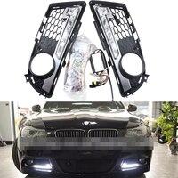 High power Headlights DRL for BMW E90 LCI Sedan/ E91 LCI Tourning 09 12 M TECH Only LED Car Daytime Running Light 6W*2 Cree chip