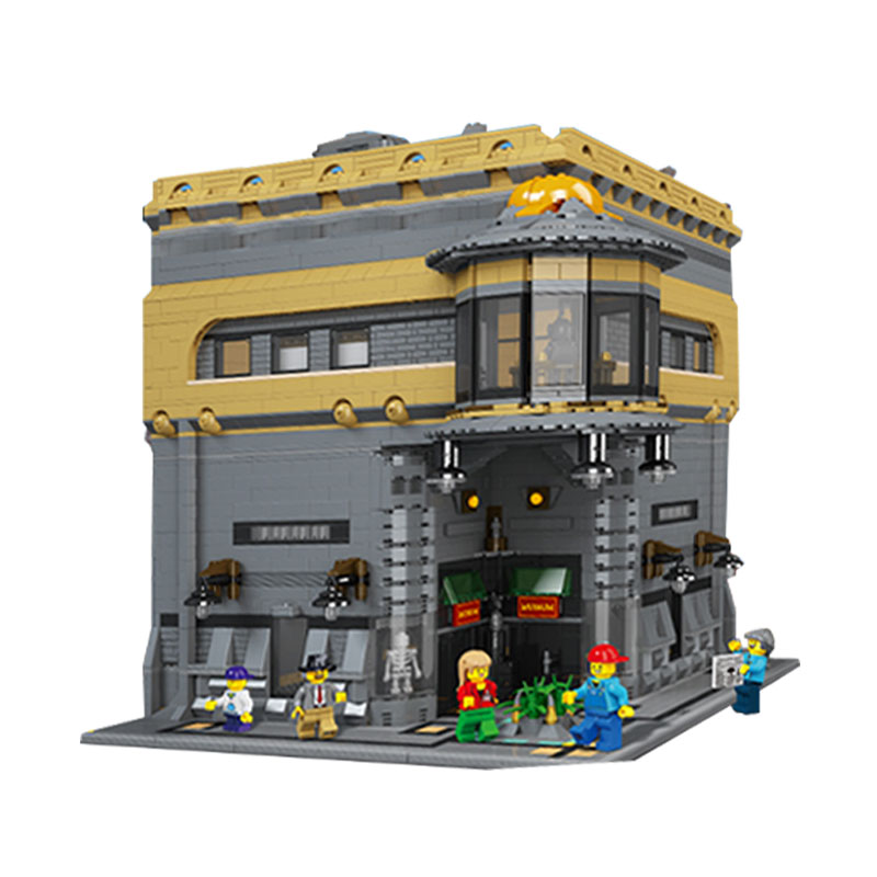 Modular MOC LEPIN 15015 5003pcs City Creator The dinosaur Museum Model Building Kits Blocks Brick Toy