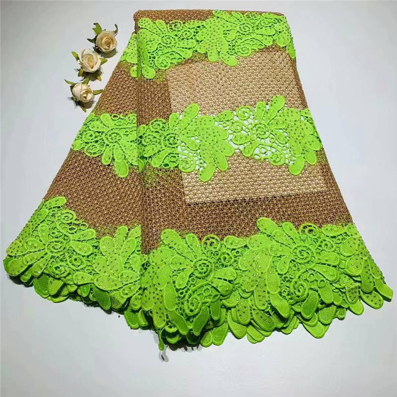Latest African Laces 2019 Fashionable Aso Ebi Tulle Fabric Wholesales Voile Lace Guipure Embroidery Lace Fabric 5Yard/lot