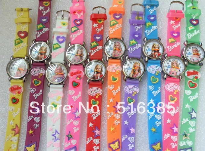 Hot Sale Free & Drop Shipping 10pcs/lot !princess 3D Cartoon Doll Girl Watch Children Kids Girls Quartz Wrist Watches 10pcs lot tda7498l hot sell free shipping buy it direct