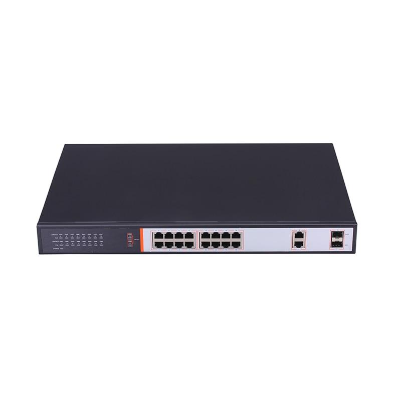 PS1016 16 + 2 Порты и разъёмы 100 Мбит/с PoE коммутатор Sup Порты и разъёмы s 10/100 Мбит/с fast Ethernet 802.3af стандарт poE питание устройства 7,2 Гбит/с VoIP телефонии