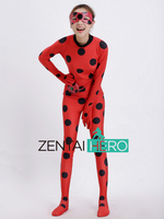 ZentaiHero Kids The Miraculous Ladybug Cosplay Costume Halloween Girl Ladybug Marinette Child Lady Bug Spandex Lycra