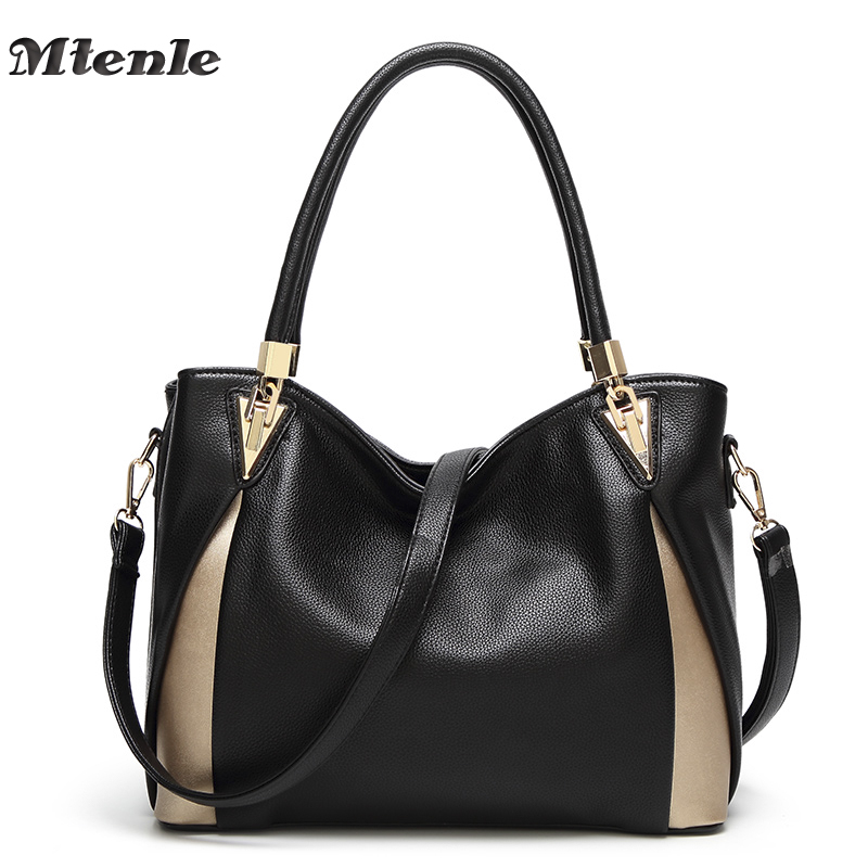 MTENLE PU Leather Bags Handbags Women Famous Brands Women Bags Female Tote Shoulder Bag Ladies large Bolsos Mujer Sac a Main F women luxury handbags brand ladies pu leather shoulder bag handtassen sac a main female popular crossbody bags bolsos mujer