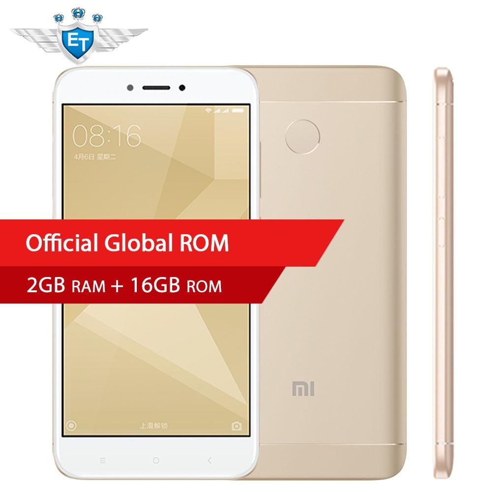 "bilder für Original Xiaomi Redmi 4X4 X Smartphone 2 GB 16 GB 5,0 ""Hd-bildschirm Snapdragon 435 Octa-core 4100 mAh 13MP MIUI 8,2 Globale ROM OTA"