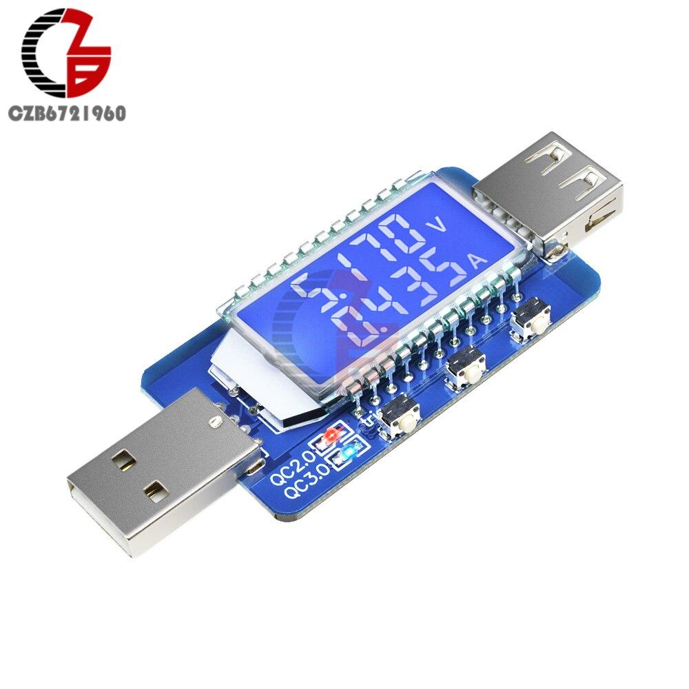 QC3.0 QC2.0 Smart Trigger LCD USB Tester DC 4V-28V Digital Voltmeter Ammeter 12V 24V USB Charger Doctor Detector Voltage Meter