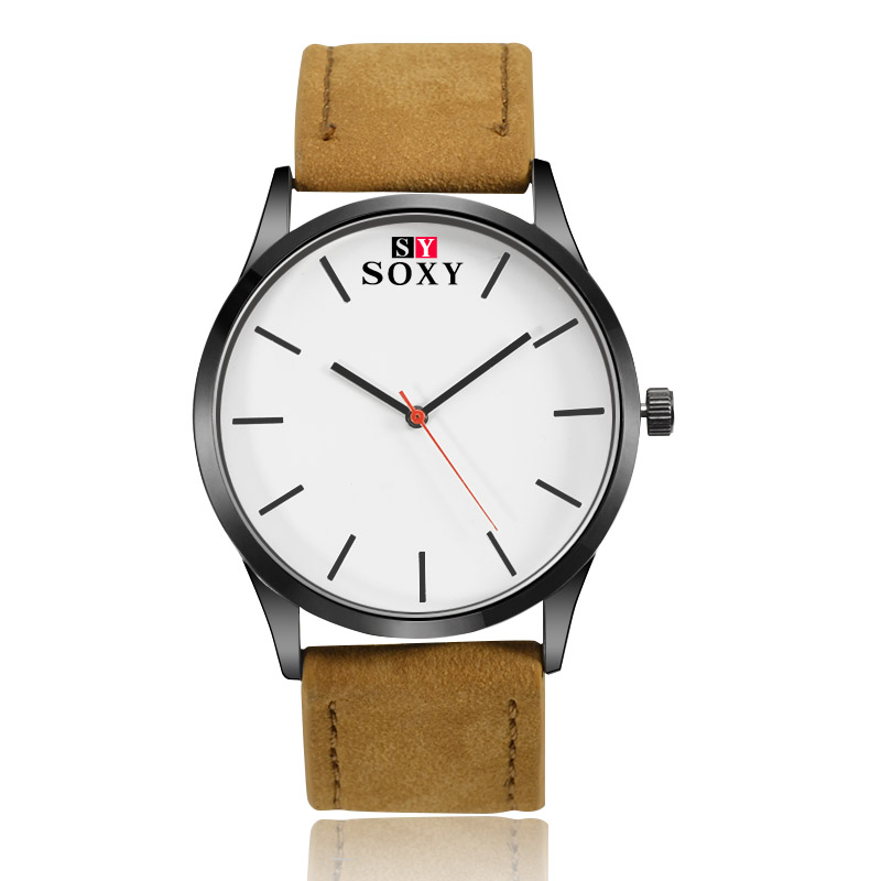SOXY Brand Minimalist Fashion Sport Watch Men Watch Leather Quartz Watch Men Hours montre homme relogio masculino reloj hombre цена и фото