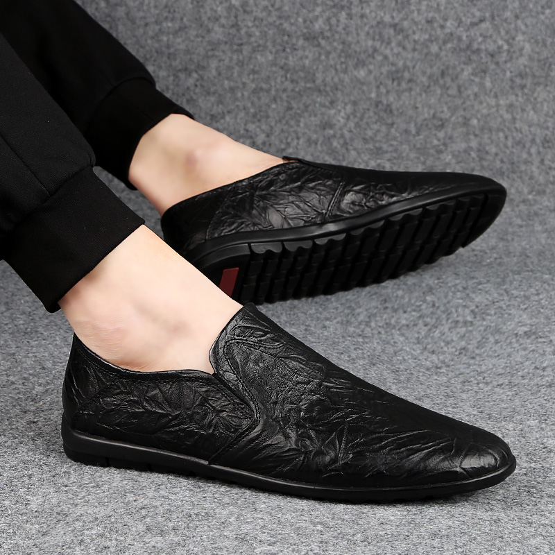 Mens Loafers Genuine Leather Shoes Men Leather Dress Men Shoes For Men Dress Shoes Men Casual Fashion Breathable Large Sizes J3