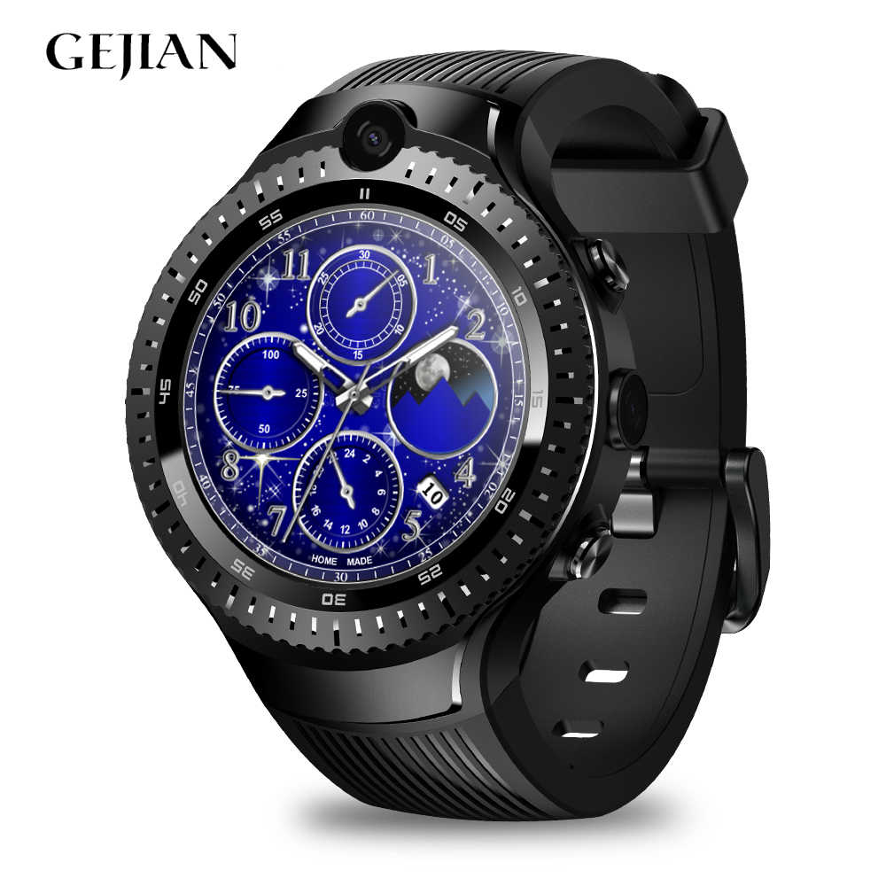 GEJIAN 4G smart watch men's Android 7.1 equipped with 5 million pixel camera GPS 1.4 inch screen SIM card video call sports watc
