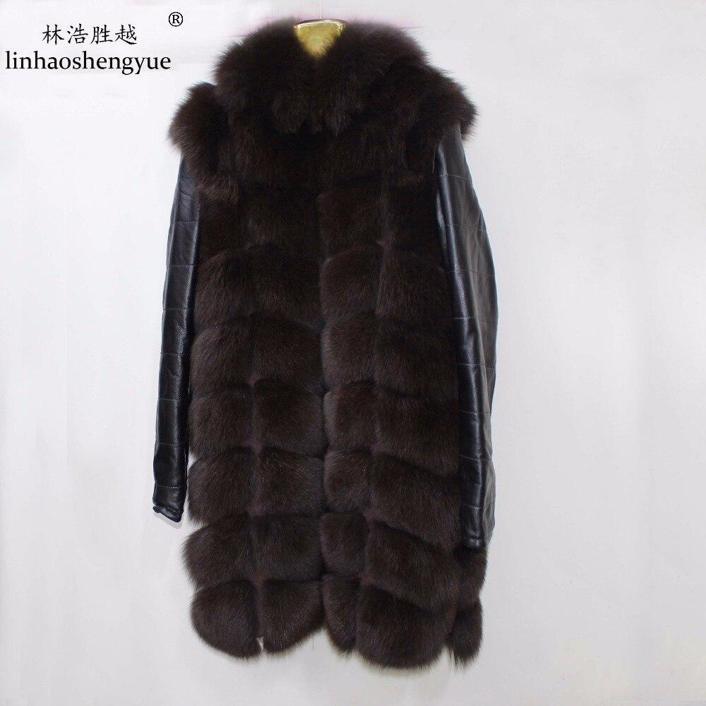 Chaud Gratuite Renard D'hiver Avec Fourrure Gray Livraison brown Linhaoshengyue Manteau Réel black De Mode AwZqc0pv