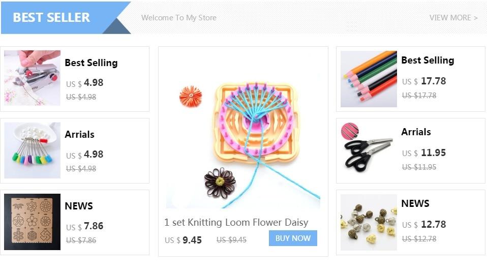 1 Unidades tejer telar flor Daisy patrón de tejer lana ganchillo ...