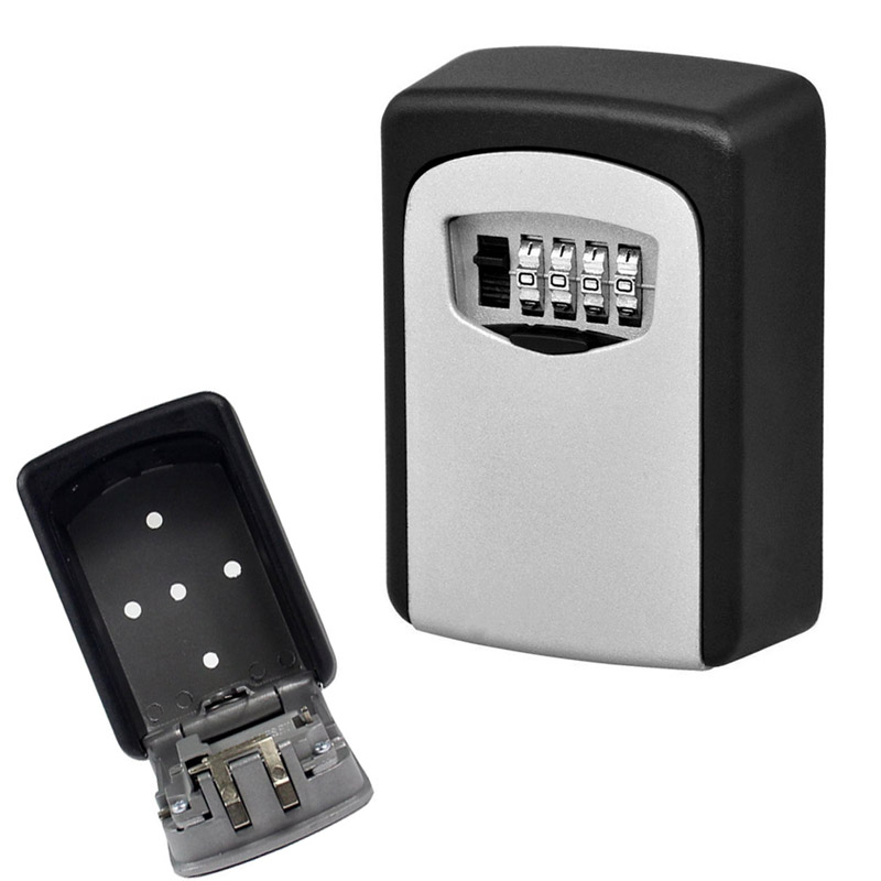 Durable Key Storage Lock Security Box Wall Mount Holder 4 Digit Combination Safe Organizer For Home Office cassaforte seguridad