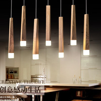 Europe modern brief art decor Solid wood pendent lights Nordic 3w led 110v/220v For Decor Led Light Iluminacion A178